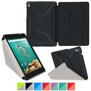 "rOOCASE Origami Polyurethane 3D Slim Shell Folio Smart Case Cover for 8.9"" Google Nexus 9, Granite Black/Cool Gray"