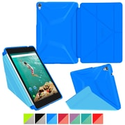 "rOOCASE Origami Polyurethane 3D Slim Shell Folio Smart Case Cover for 8.9"" Google Nexus 9, Pacific Blue/Barbados Blue"