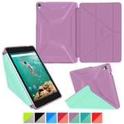 "rOOCASE Origami Polyurethane 3D Slim Shell Folio Smart Case Cover for 8.9"" Google Nexus 9, Radiant Orchid/Mint Candy"