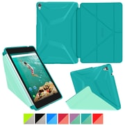 "rOOCASE Origami Polyurethane 3D Slim Shell Folio Smart Case Cover for 8.9"" Google Nexus 9, Turquoise Blue/Mint Candy"