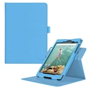 "rOOCASE PU Leather Dual-View Folio Smart Case Cover for 8.9"" Google Nexus 9, Blue"