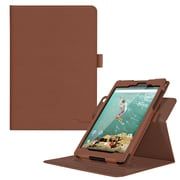 "rOOCASE PU Leather Dual-View Folio Smart Case Cover for 8.9"" Google Nexus 9, Brown"