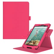 "rOOCASE PU Leather Dual-View Folio Smart Case Cover for 8.9"" Google Nexus 9, Magenta"