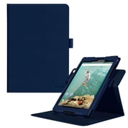 """rOOCASE PU Leather Dual-View Folio Smart Case Cover for 8.9"""" Google Nexus 9, Navy"""