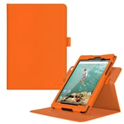 "rOOCASE PU Leather Dual-View Folio Smart Case Cover for 8.9"" Google Nexus 9, Orange"