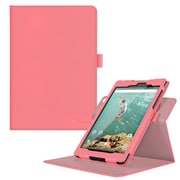 "rOOCASE PU Leather Dual-View Folio Smart Case Cover for 8.9"" Google Nexus 9, Pink"