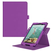 "rOOCASE PU Leather Dual-View Folio Smart Case Cover for 8.9"" Google Nexus 9, Purple"