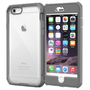 "rOOCASE Glacier Tough Clear Back Full Body Armor Case Cover for 5.5"" iPhone 6 Plus, Space Gray (RC-IPH6-5.5-GT-SG)"