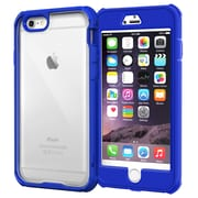 "rOOCASE Glacier Tough Clear Back Full Body Armor Case Cover for 5.5"" iPhone 6 Plus, Palatinate Blue (RC-IPH6-5.5-GT-BL)"