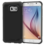 rOOCASE Exec Tough Slim Fit Armor Case Cover for Samsung Galaxy S6, Granite Black (RC-SAM-S6-ET-BK)