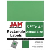 JAM Paper® Mailing Address Labels, 3 1/3 x 4, AstroBrights® Gamma Green, 120/pack (302725776)