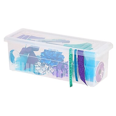 IRIS® Ribbon Storage Box, Clear, 6 Pack (105100)