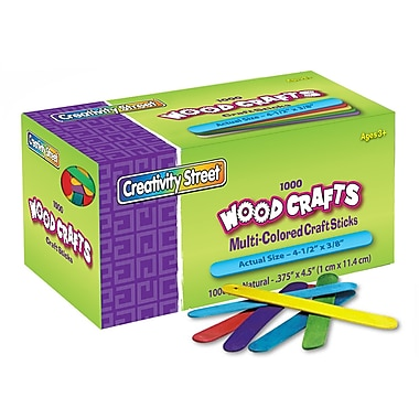 Chenille Kraft CK377502 Assorted Craft Sticks 4.5