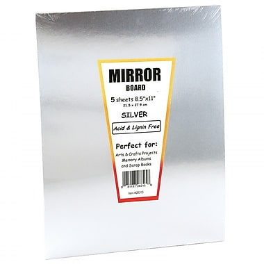 Hygloss HYG28355 Silver Mirror Board Sheet, 7