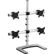 "Visidec VFS-Q-TAA Quad Desk Stand for 27"" Monitor, Silver"