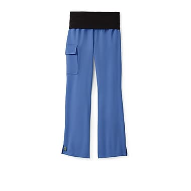 Medline Ocean ave Women Medium Petite Yoga Scrub Pants, Ceil Blue (5560CBLMP)