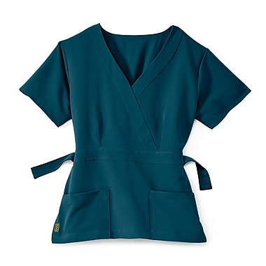 Medline Park ave Women 2XL Scrub Top, Caribbean Blue (5587CRBXXL)