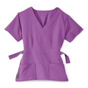 Medline Park ave Women 2XL Scrub Top, Purple (5587PPLXXL)