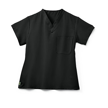 Medline Fifth ave Unisex XL Scrub Top, Black (5910BLKXL)