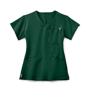 Medline Berkeley AVE. Women 3XL Scrub Top, Hunter Green (5582HTRXXXL)