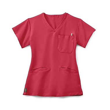 Medline Berkeley AVE. Women Large Scrub Top, Pink (5582PNKL)