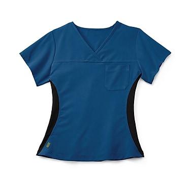 Medline Michigan ave Women Small Scrub Top, Royal Blue (5564RYLS)