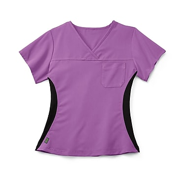 Medline Michigan ave Women XL Scrub Top, Purple (5564PPLXL)