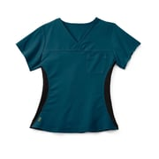 Medline Michigan ave Women 2XL Scrub Top, Caribbean Blue (5564CRBXXL)