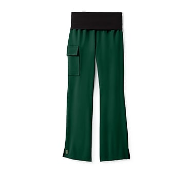 Medline Ocean ave Women XL Yoga Scrub Pants, Hunter (5560HTRXL)