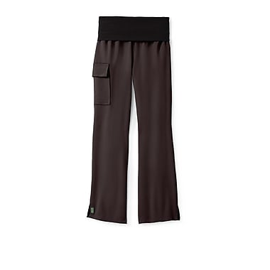 Medline Ocean ave Women Large Yoga Scrub Pants, Chocolate (5560CHCL)