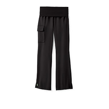 Medline Ocean ave Women Small Tall Yoga Scrub Pants, Black (5560BLKST)