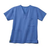 Medline Madison ave Unisex Large Scrub Top, Ceil Blue (5515CBLL)