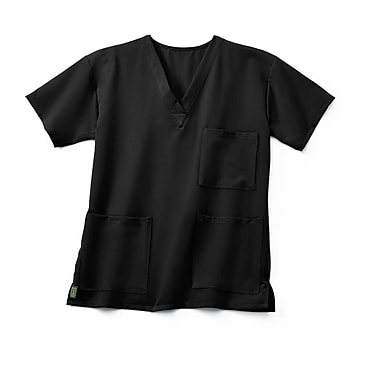 Medline Madison ave Unisex 3XL Scrub Top, Black (5515BLKXXXL)