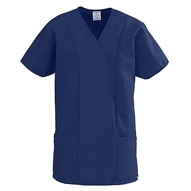 Medline ComfortEase Women XL Crossover Tunic Scrub Top, Midnight Blue (8851JNTXL)