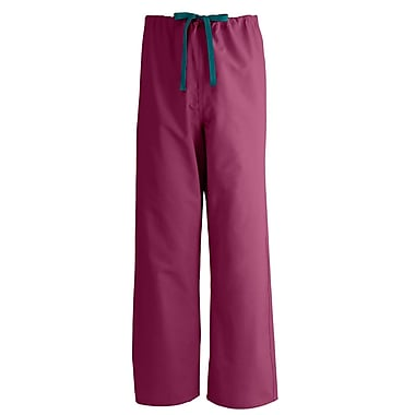 Medline AngelStat Unisex XL Reversible Drawstring Scrub Pants, Raspberry (600NTRXL-CA)