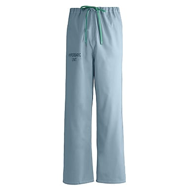 Medline Unisex Large Reversible Hyperbaric Drawstring Scrub Pants, Misty Green (659MZSL-CM)