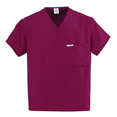Medline PerforMAX Unisex XS One-Pocket Reversible Scrub Top, Wine (810JWNXS-CA)