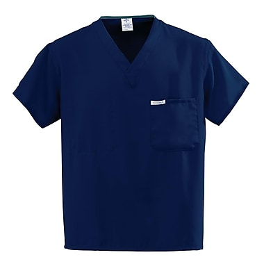 Medline PerforMAX Unisex Small One-Pocket Reversible Scrub Top, Navy (810NNTS-CM)