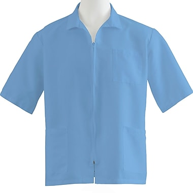 Medline Unisex Medium Zip Front Smock, Light Blue (87005RCWM)