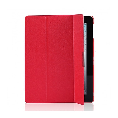 i-Blason IPAD5-3F-RED Faux Leather Folio Case for Apple iPad Air, Red