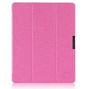 i-Blason IPAD5-3F-MAGNTA Faux Leather Folio Case for Apple iPad Air, Magenta