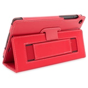 Snugg B00F8GMNPG Polyurethane Leather Folio Case and Flip Stand for Google Nexus 7 2013, Red