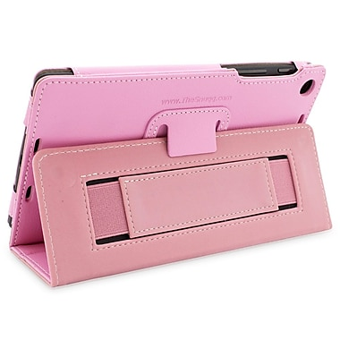 Snugg B00F8GHWK2 Polyurethane Leather Folio Case and Flip Stand for Google Nexus 7 2013, Candy Pink