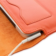 "Snugg B00FJ2N7DQ Polyurethane Leather Wallet Case for 15"" Mac Book Pro, Orange"