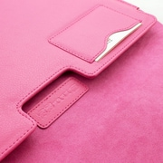"Snugg B00FJ2DLMS Polyurethane Leather Wallet Case for 15"" Mac Book Pro, Hot Pink"