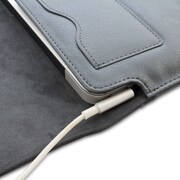 "Snugg B00FJ2GD4Q Polyurethane Leather Wallet Case for 15"" Mac Book Pro, Gray"