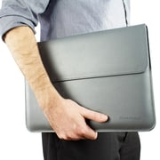 "Snugg Polyurethane Leather Wallet Case for 13"" MacBook Pro, Gray (B00FJ6FZXW)"