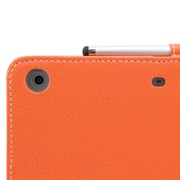 Snugg B00A23FYEW PU Leather Flip Stand Cover for Apple iPad Mini/Mini 2 Retina, Orange