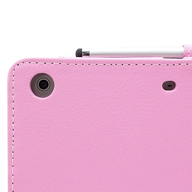 Snugg B00A23FWOY PU Leather Flip Stand Cover for Apple iPad Mini/Mini 2 Retina, Candy Pink