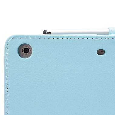 Snugg B00A23FXKW PU Leather Flip Stand Cover for Apple iPad Mini/Mini 2 Retina, Baby Blue